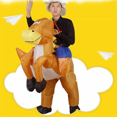 Decdeal Lustiger Cowboy Reiter auf Pferd Aufblasbares Kostüm - Aufblasbare Outfits
