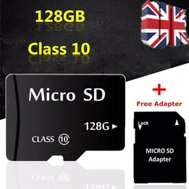 New 128GB Micro SD Card Class 10 TF Flash Memory SDHC SDXC - 128G - With Adapter