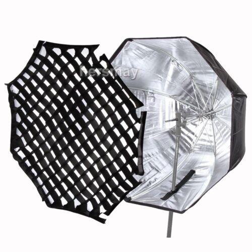 """Octagon Umbrella Speedlite Softbox: 80cm/32"""" Octagon Umbrella Softbox + Honeycomb Grid For"""