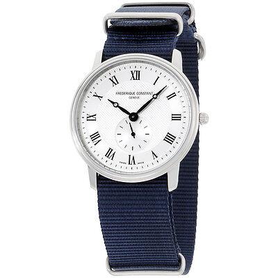 Frederique Constant Slimline Silver Dial Nylon Strap Men's Watch FC235M4S6NVY