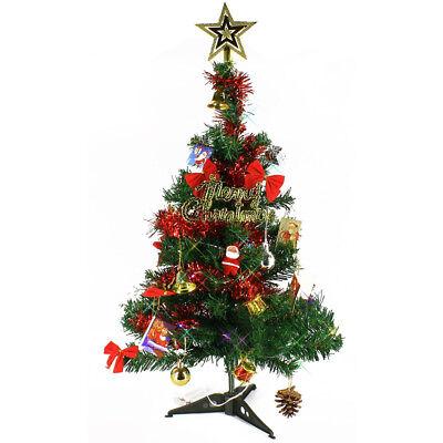 Mini Christmas Tree 24'' Xmas Artificial Lighted Ornaments Small Tabletop Lights - Illuminated Artificial Tabletop Christmas Tree