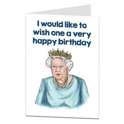 Funny Birthday Card For Mum Best friend Silly Humorous Unusual Queen
