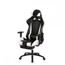 White Office Chair High back Computer Racing Gaming Chair Ergonomic Chair RC1