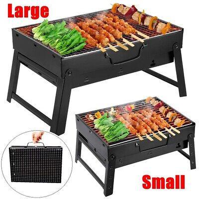 Large Portable BBQ Barbecue Steel Charcoal Grill Outdoor Patio Garden Party