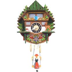 0144SQ - Engstler Battery-operated Clock - Mini Size with Music/Chimes - 6...