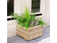 Square wooden planter Pair (new)