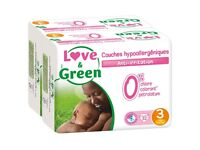 32 Pack of Love & Green Ecological Nappies Size 3: 4-9kg