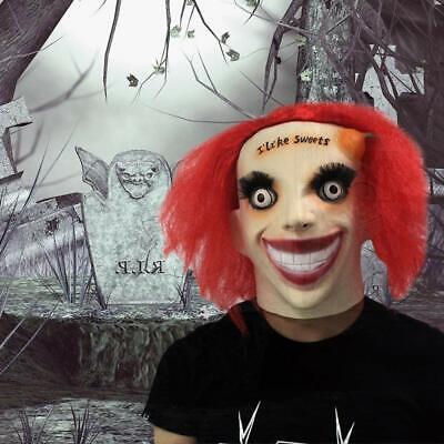 Creepy Clown Halloween Costume (Men's Creepy Clown Mask Latex Face Mask Halloween Cosplay Costume Prop)