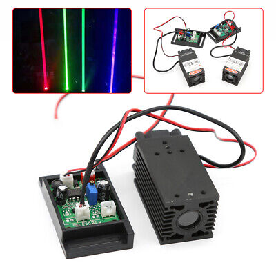 445nm450nm Focusable 2w Blue Laser Module Diode For Engraving Cutter Ttl 12v