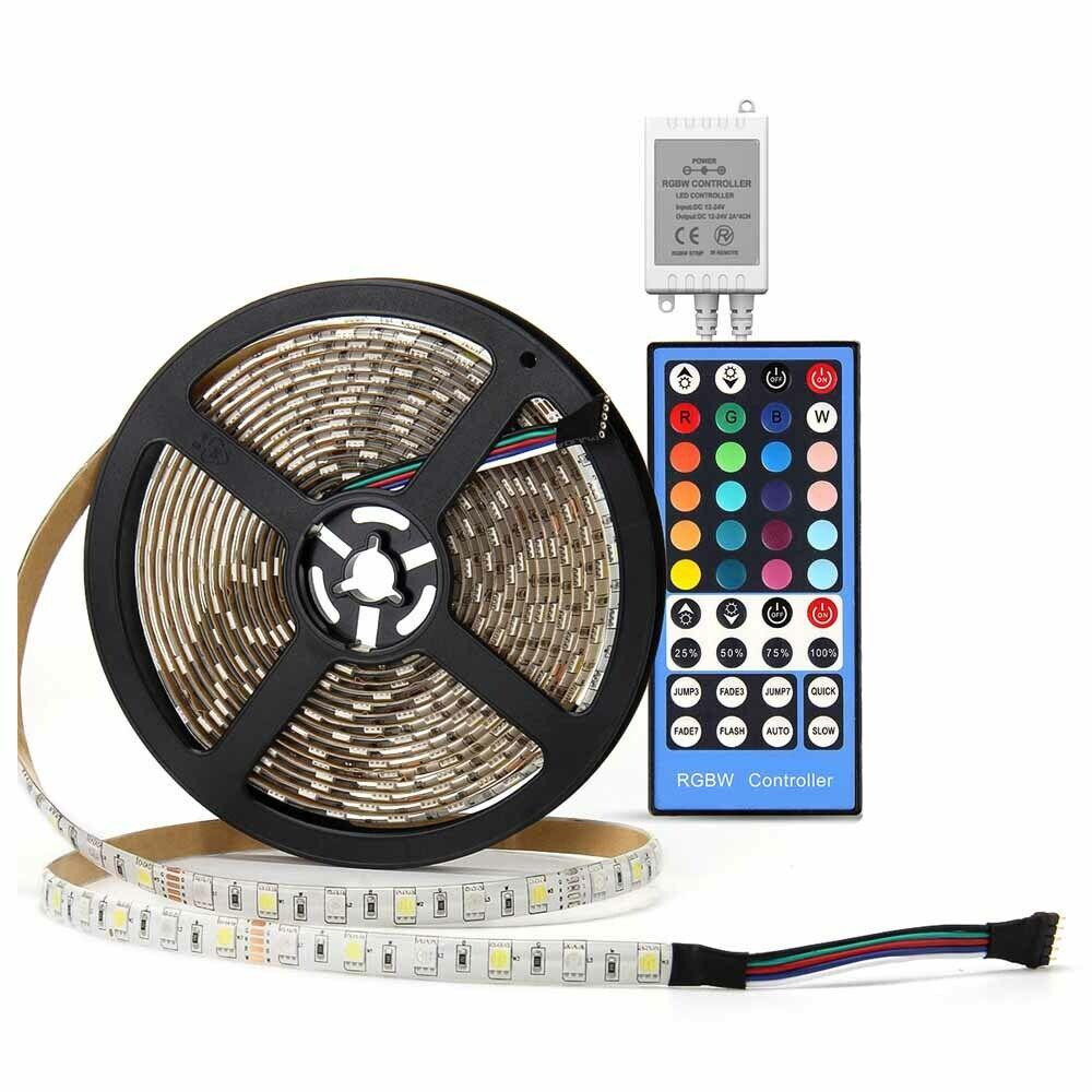 SUPERNIGHT RGBW 5M 5050 300 LED Strip Light +44Key Music Rem