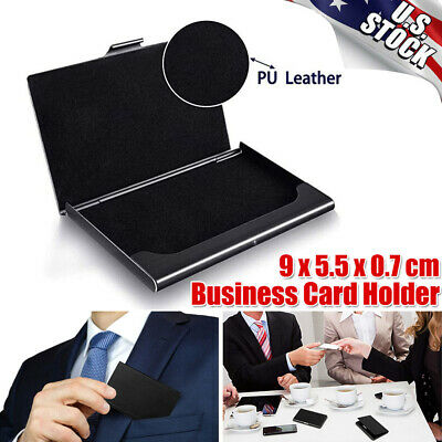 Pocket Stainless Steel Super Light Business Card Holder Case Id Credit Wallet
