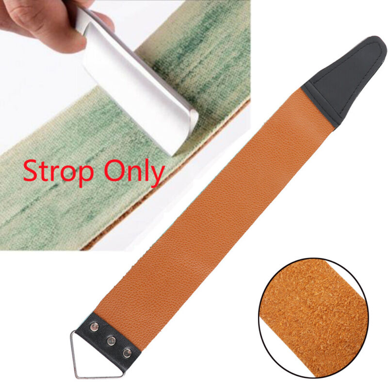 Professional Salon Canvas Leather Razor Sharpening Barber Tool Shaving Strop