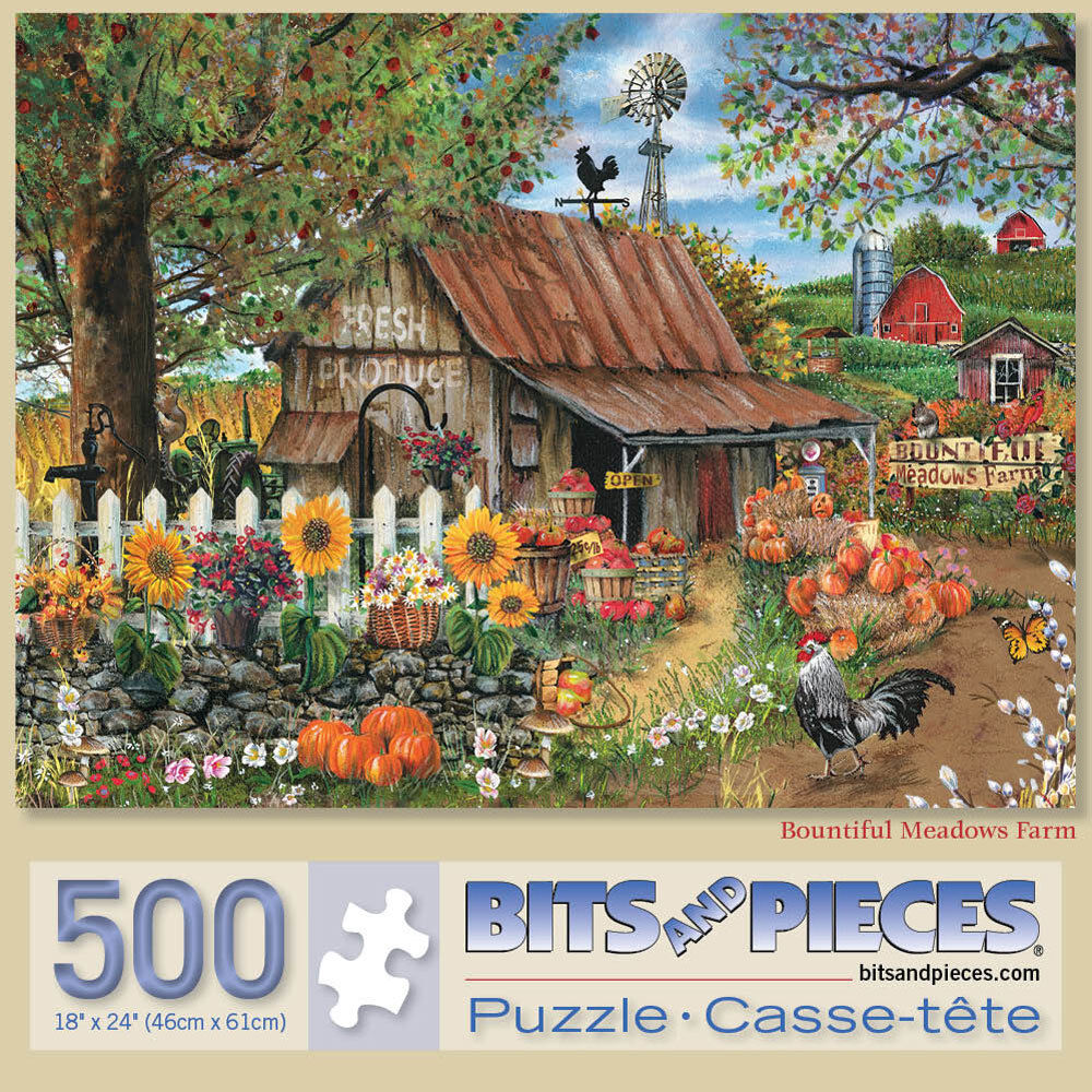 Bits and Pieces - 500 Piece Jigsaw Puzzle for Adults - Bount