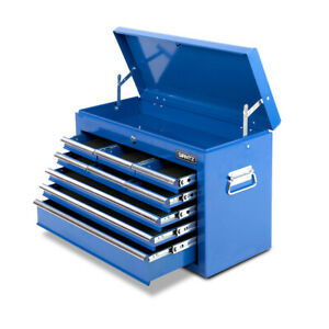 9 Drawers Toolbox Chest Cabinet Tool Box Roller Trolley Blue