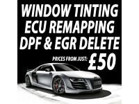 ** FROM £49.95 * PROFESSIONAL CAR WINDOW TINTING \ ECU REMAPPING \ DPF & EGR DELETE!