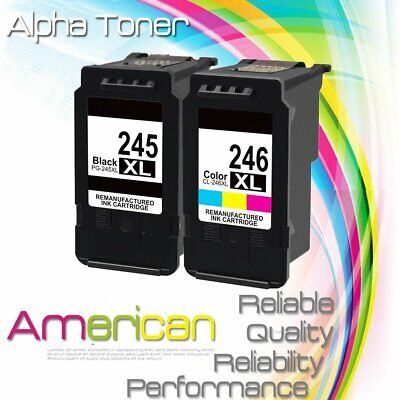 2 PK For Canon PG-245XL CL-246XL Ink Cartridge PIXMA MG2520 MG2522 MG2550 MX490