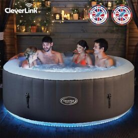 6 person clever hot tub (used)