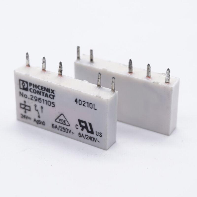 NO.2961105 Phoenix Contact Power Relay 6A 250VAC 24VDC 5 Pins (Pack of 10)