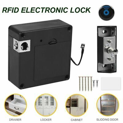 Hidden Lock Wooden Cabinet Door Drawer Invisible Rfid Electronic Card Locking Us