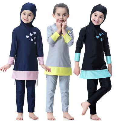 Baby Kinder Mädchen Muslim Islamisch Voll Hülle Kostüme Modest Bademode (Muslim Kostüm Kinder)
