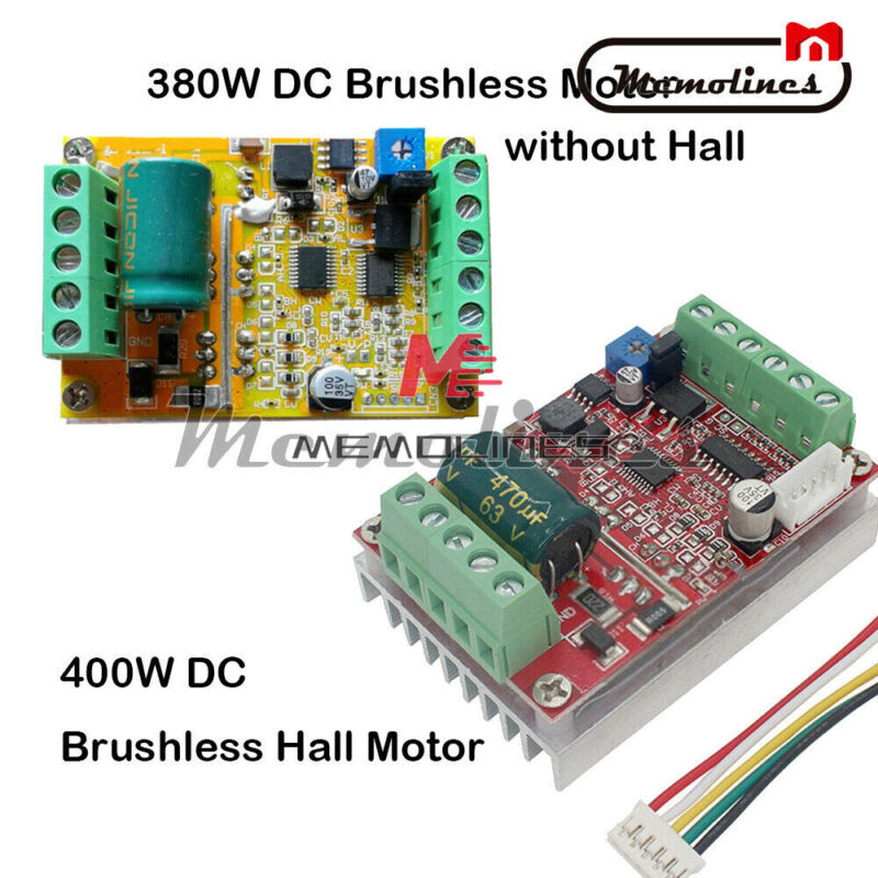 380w/400w Bldc 3 Phase Pwm Hall Motor Controller Dc Brushless Driver Board