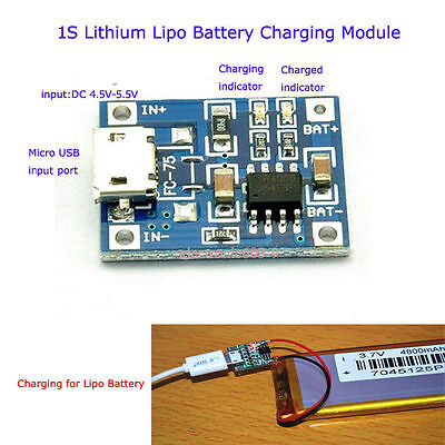 5v Micro Usb 1a 18650 Lithium Battery Mini Charging Board Lipo Charger Module