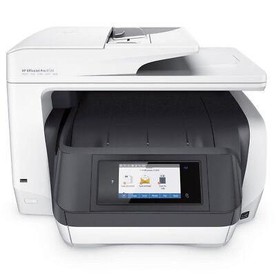 HP OfficeJet Pro 8720 All-in-One Inkjet Touchscreen Printer, Standard Ink Bundle