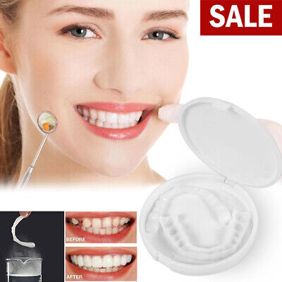 New Perfect Smile Comfort Fit Flex Teeth Veneers Cosmetic Snap on Upper Teeth US