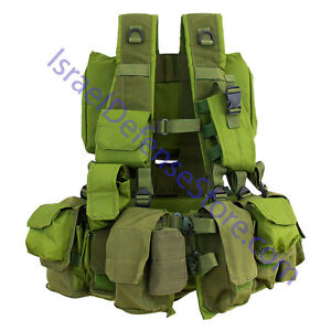 Original-IDF-Tactical-Combat-Commando-Soldier-Vest-Harness-Authentic-Surplus-NEW