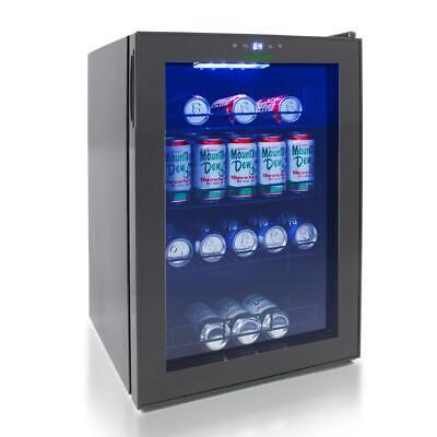 NutriChef Compact Beverage Fridge Cooler Wine Bottle & Can Beverage Chilling Ref