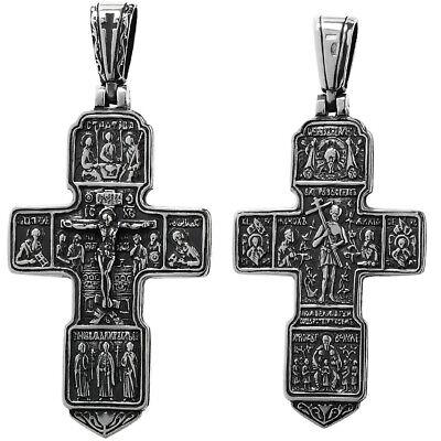 925er Sterlingsilber KREUZ Orthodoxe Kruzefix Anhänger russisch 6280 Taufe