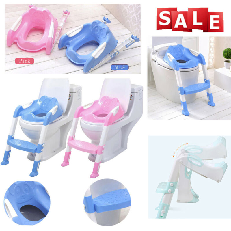 Toddler Toilet Chair Kids Potty Training Seat with Step Stoo