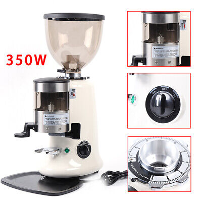 Stainless Commercial Coffee Grinder Electric Grind Semi-auto Burr Mill Espresso