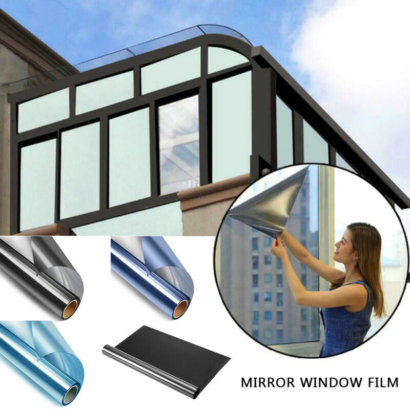 One Way Mirror Reflective Home Window Film Privacy Glass Sol