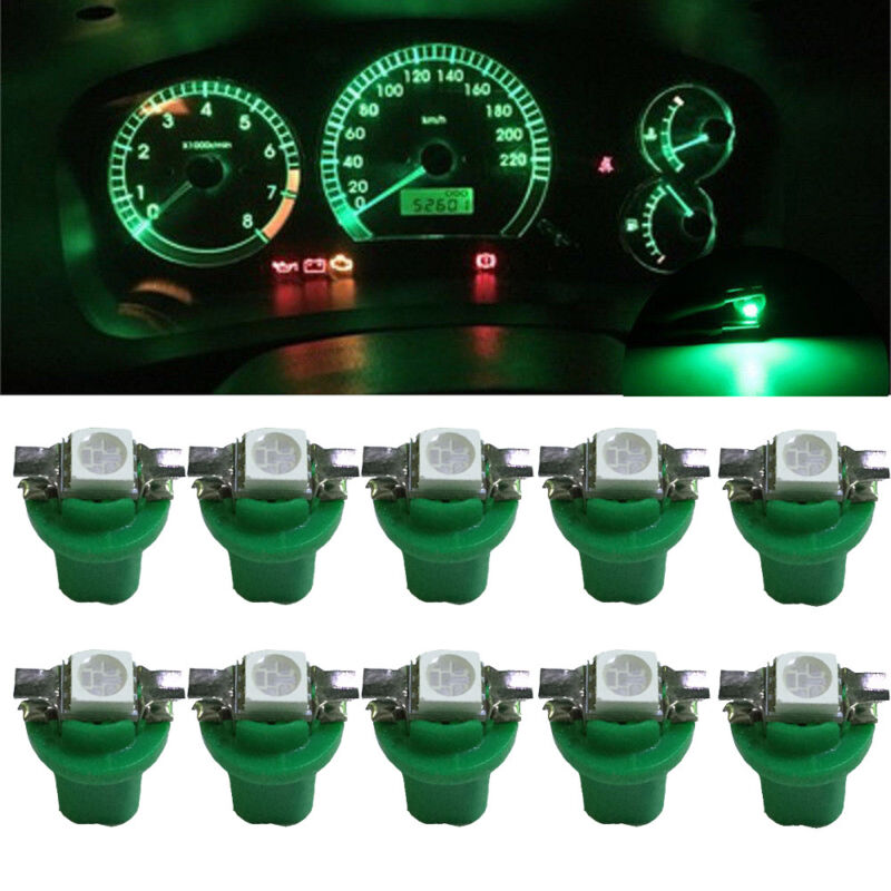 12V 24V T5 5050 2 SMD B8.5D LED Car Dashboard Dash Gauge Instrument Light Bulbs