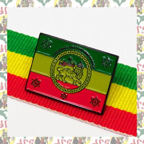 Imperial standard [drs] 2D Pins Badge Ethiopia  Lion of Judah Haile Selassie I