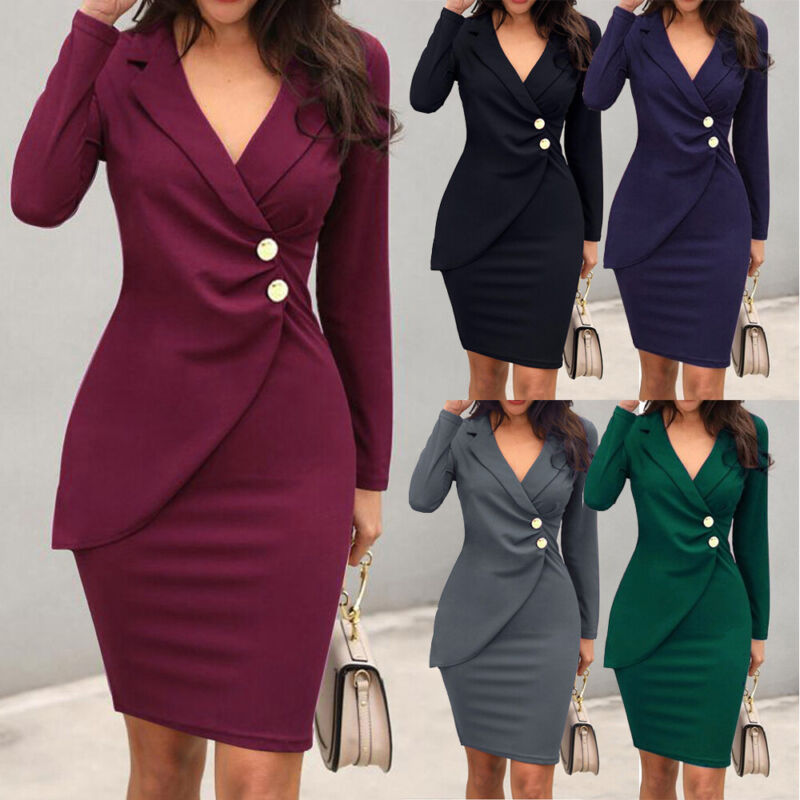 Women Ladies OL Business Office Work Formal Evening Party Bo