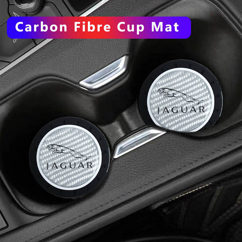 MLING Car Cup Holder Insert Anti-Dust Non-Slip Rubber Mats Coaster Compatible for Model 3 2017 2018 2019 3 Pieces Red