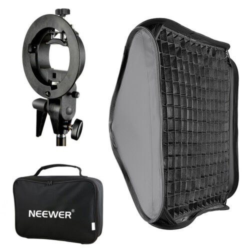 "Neewer 16""x16""/40x40cm Bowens Mount Softbox with Grid and S-type Flash Bracket"
