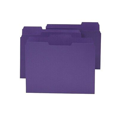 Staples Colored Top-tab File Folders 3 Tab Purple Letter Size 24pack 659790