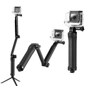 3 Way Extension Pole Hand Grip Camera Mount for Gopro and others