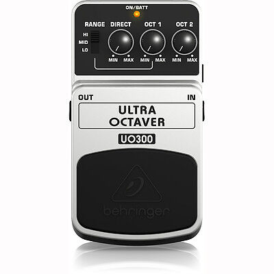 Behringer UO300 Ultra Octave 1 2 Range Stompbox Electric Guitar Effects Pedal