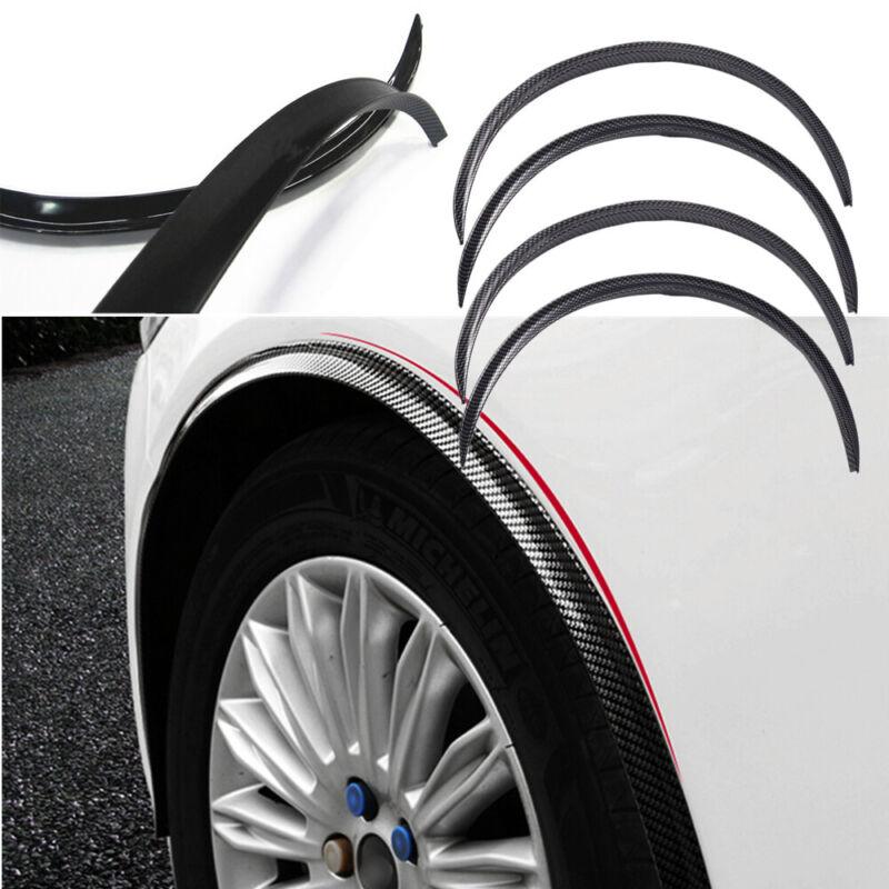Carbon Fiber Wheel Eyebrow Arch Trim Lips Strip Fender Flare Protector Exterior