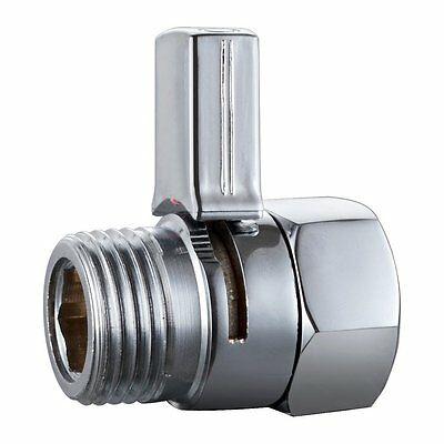 Lever Chrome Handheld Shower (Handheld Shower Head Flow Supply Shut Off Switch Valve with Long Lever)