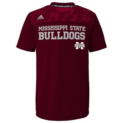Mississippi State Bulldogs NCAA Adidas Youth Maroon Amped Climalite - Mississippi State Bulldog