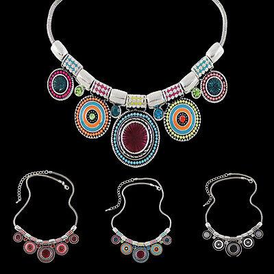 Fashion Gypsy Beachy Ethnic Tribal Turkish Bohemian Statement Necklace Jewelry