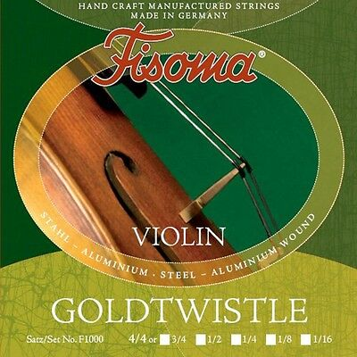 Fisoma Goldtwistle Violin Geige Saiten SATZ in 6 Größen Violin Strings SET