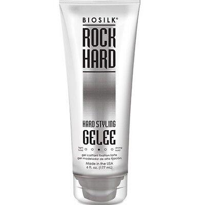 Biosilk Rock Hard Hair Styling Gelee 6 oz (Pack of 6) Biosilk Rock Hard Gel