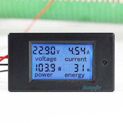 100A DC Digital Watt KWH Current Power Energy Meter Ammeter Voltmeter 7-100V US