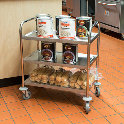 Choice 28 X 16 X 32 Restaurant Kitchen Stainless Steel 3 Shelf Utility Cart